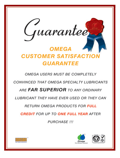 Omega Customer Satisfication Guarantee